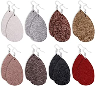 leather teardrop earrings wholesale