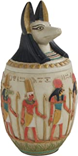 Culture Spot Ancient Egyptian Canopic Jar with Jackal head | Duamutef Statue | Indoor Placement | Show Pieces | Master Piece | Home Decor | 10 Inches Tall