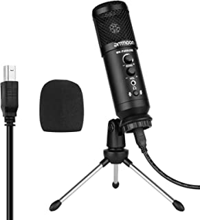 suzicca USB Condenser Microphone Computer Mic Kit with Mini Desktop Metal Tripod Stand Windscreen USB Cable for Music Reco...