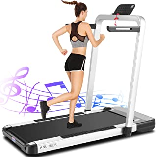 ANCHEER 2in1 Folding Treadmill,2.25HP APP Control Under Desk Treadmills with LCD Touch Monitor and Watch Remote Controlle...