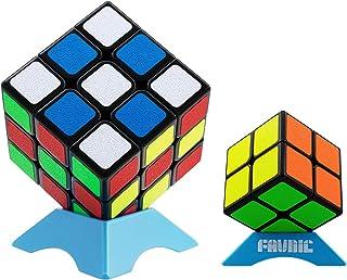 魔方 セット Magic Cube Set 競技用 立体パズル 【日本語6面完成攻略書・専用スタンド付き】 脳トレ ポップ防止 高級者向け魔方 プレゼント FAVNIC ポップ防止 (2x2 + 3x3 「マット感」)