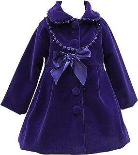 Cute Imitation Wool Bowknot Girl Overcoat Dress Coat Outer Wear Winter