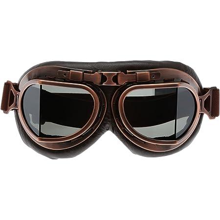 Muxsam Vintage Sonnenbrille Schutzbrille Bikerbrille Für Outdoor Sport Brown Len Auto
