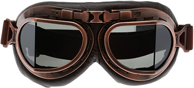 Steampunk Accessories | Goggles, Gears, Glasses, Guns, Mask MUXSAM 1PC Motorcycle Goggles Steampunk Vintage Earhart Goggles Pilot Outdoor Sand Goggles for Half Helmet Cruiser Scooter Goggle Bike Racer Cruiser Touring Eyewear  AT vintagedancer.com