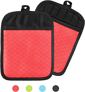 NA - Juego de agarraderas para ollas de cocina, resistente al calor, agarraderas de tela antideslizante con bolsillos y agarre de silicona para cocinar y hornear, paquete de 2, 8.26.5 pulgadas