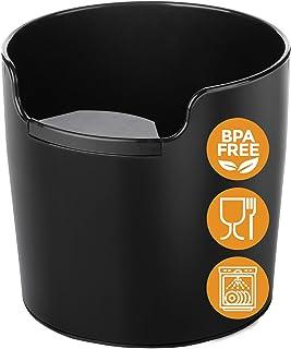 Homeffect ノックボックス ハンドリング向上 - 革新的なバリスタツール - ブラック - プロフェッショナルコーヒーとエスプレッソアクセサリー 4.8inch x 4.8inch x 4.6inch (WxDxH) ブラック AB0001