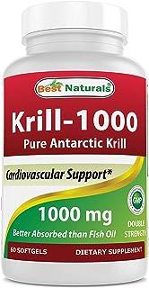Best Naturals Krill Oil Soft Gel, 1000 mg, 60 Count