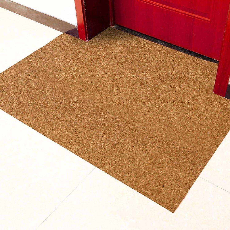Home Doormat, Indoor Outdoor Water Absorption Soft Non-Slip Rubber Backing Front Door Corridor Patio Garage Floor Mat-120x150Cm(47x59Inch)-Camel