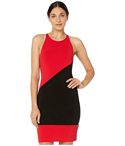 Nicole Miller Heavy Jersey X-Back Mini Dress (Cherry Red) Women