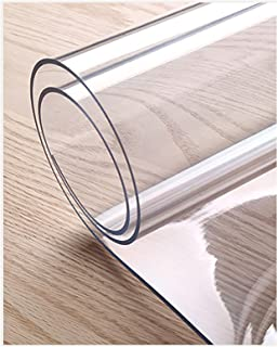eettafel beschermer,Transparante tafelfilm, PVC-tafelkleed Transparant tafelkleed, waterdichte plastic tafelhoes Tafelklee...