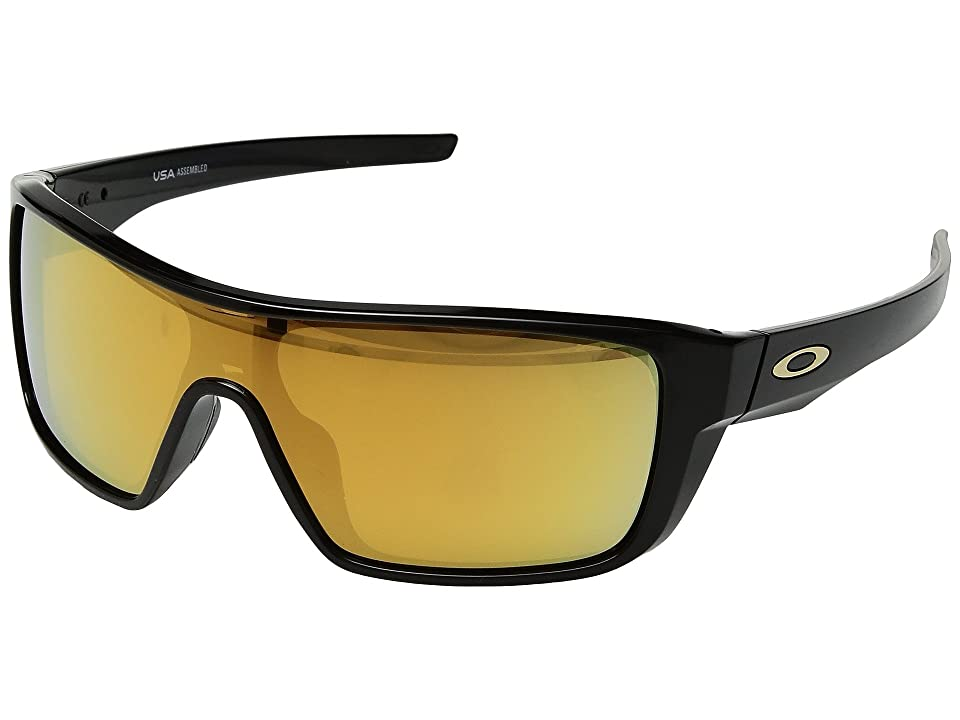 Oakley Straightback (Polished Black w/ 24K Iridium) Athletic Performance Sport Sunglasses