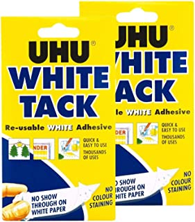 UHU white tack twin pack - sticky reusable adhesive