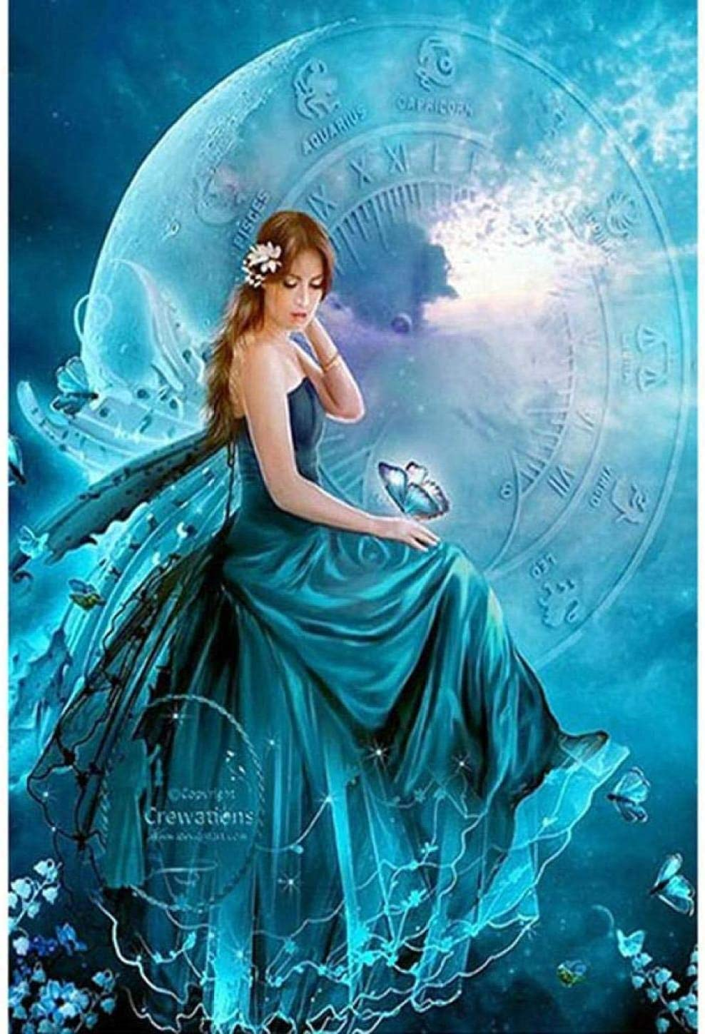 price YHX926 Cross Stitch Kits for Los Angeles Mall Beginner Fairy Sta Tale Moon Adults