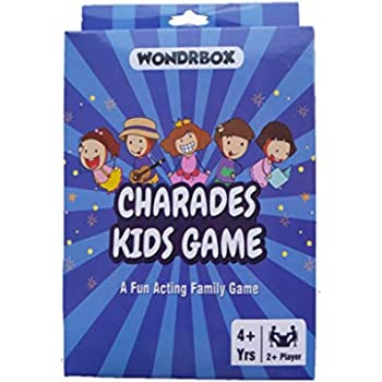 WONDRBOX Charades Kids Card Game - an Imaginative Birthday Party Game for Young Children - Features 56 Cards