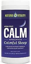 Natural Vitality Natural Calm Calmful Sleep Magnesium Anti Stress Extra Sleep Support, Mixed Berry, 16 oz