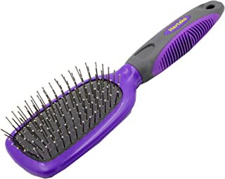 Hertzko Pet Brush Great for Detangling and Removing Loose Undercoat or Shed Fur - Suitable for Dogs and Cats with Long or Short Hair - Ideal for Everyday Brushing