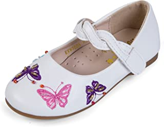 EIGHT KM Toddler Girls Ballet Flats Mary Janes Dress Shoes