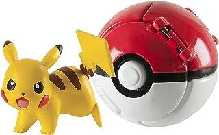 Lsxszz8-Juguete Pokeball Throw N Pop Figura de Pikachu (