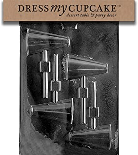 Dress My Cupcake Chocolate Candy Mold, Megaphone Lollipop