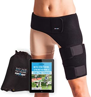 پشتیبانی و استخوان مچ پا برای مردان و زنان - بسته بندی فشرده سازی برای مفاصل ران چهار گوش همسترینگ عضلات سیاتیک عصب درد تسکین دهنده عصب زنیکیز پا