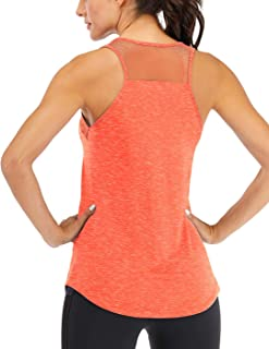 Fihapyli Women's Workout Tank Tops Breathable Mesh Backless Tank Yoga Tops for Womens Workout Tops for Women Loose Fit Pil...