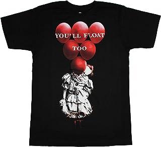 It Red Balloons Black T-Shirt