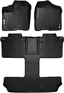 MAXLINER Floor Mats 3 Row Liner Set Black for 2013-2018 Toyota Sienna 7 Passenger Model