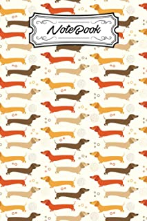 Notebook: Sausage Dog Notebook Lined Journal   Novelty Cute Dachshund Pattern Themed Gift For Girls   Boys   Teens   Dog L...