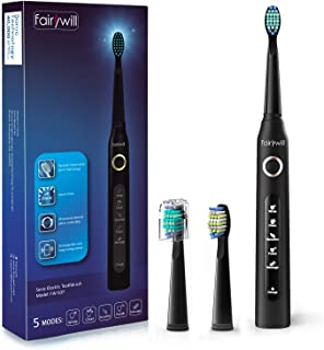 Fairywill Electric Toothbrush Powerful Sonic Cleaning – ADA Accepted Rechargeable..