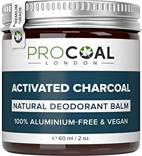 Natural Deodorant with Activated Charcoal by PROCOAL - 100%