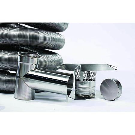 FireFlex Flexible Chimney Liner Tee Kit 4 Inch x 30 Foot