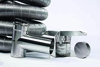 FireFlex Flexible Chimney Liner Tee Kit 3 Inch x 35 Foot