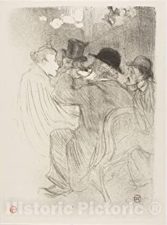 Historic Pictoric Print : at The Moulin Rouge: A Rude! A Real Rude!, Henri de Toulouse-Lautrec, c.1939, Vintage Wall Decor : 36in x 48in