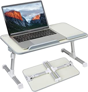 Laptop Bed Tray Table,Angle and Height Adjustable Laptop Bed Desk,Laptop Computer Stand,Foldable Sofa Breakfast Tray,Portable Standing Desk,Notebook Stand Reading Holder for Couch Floor Kids