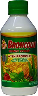 Broncolin Honey Syrup with Propolis | Nutritional Herbal Supplement with Honey, Propolis, and Plant Extracts; 11.4 Ounce