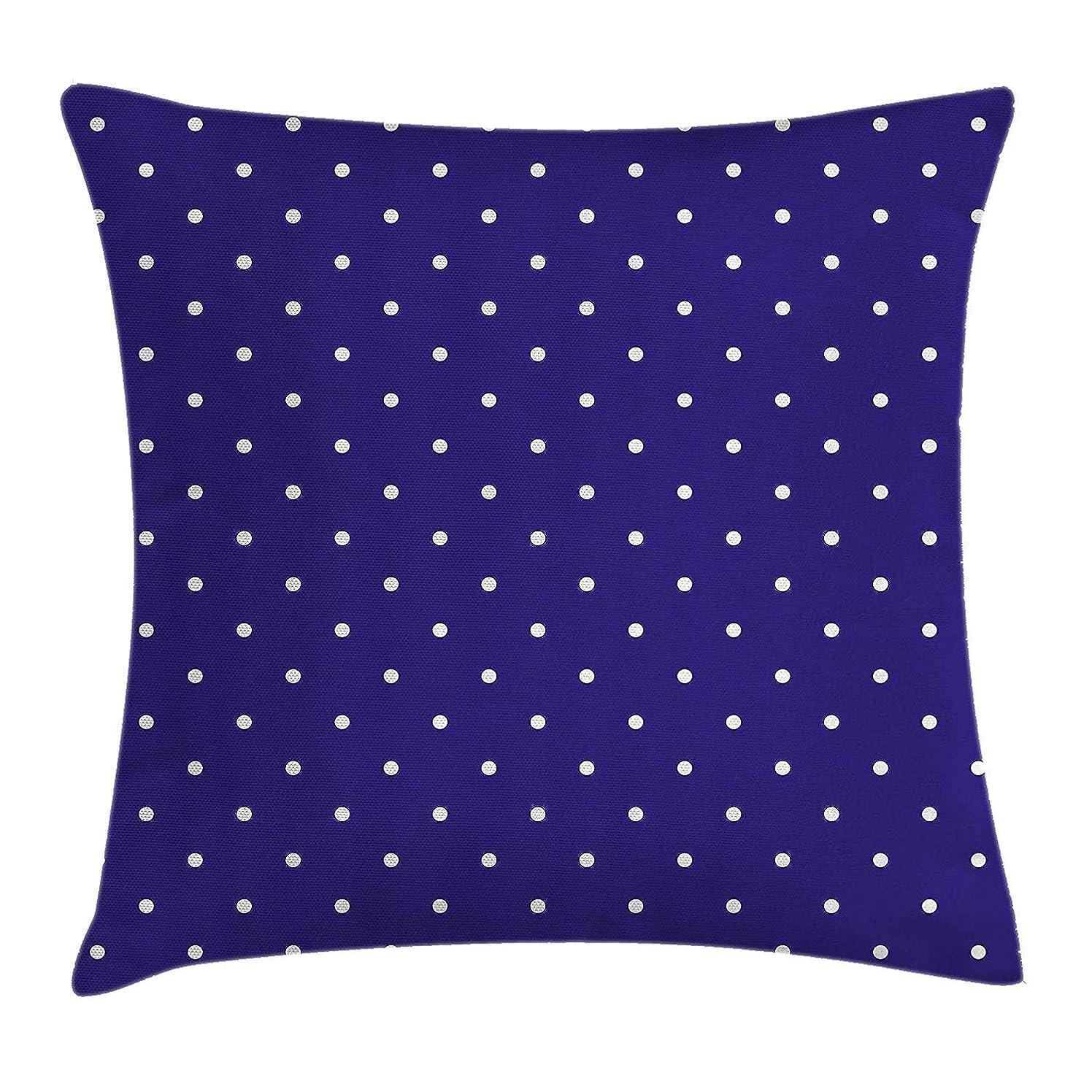 入植者ぐるぐる間隔Navy Pillow case Cute Polka Dots Pattern Nostalgic Feminine Shabby Chic Little Spots Artistic Motif 18 X 18 inches