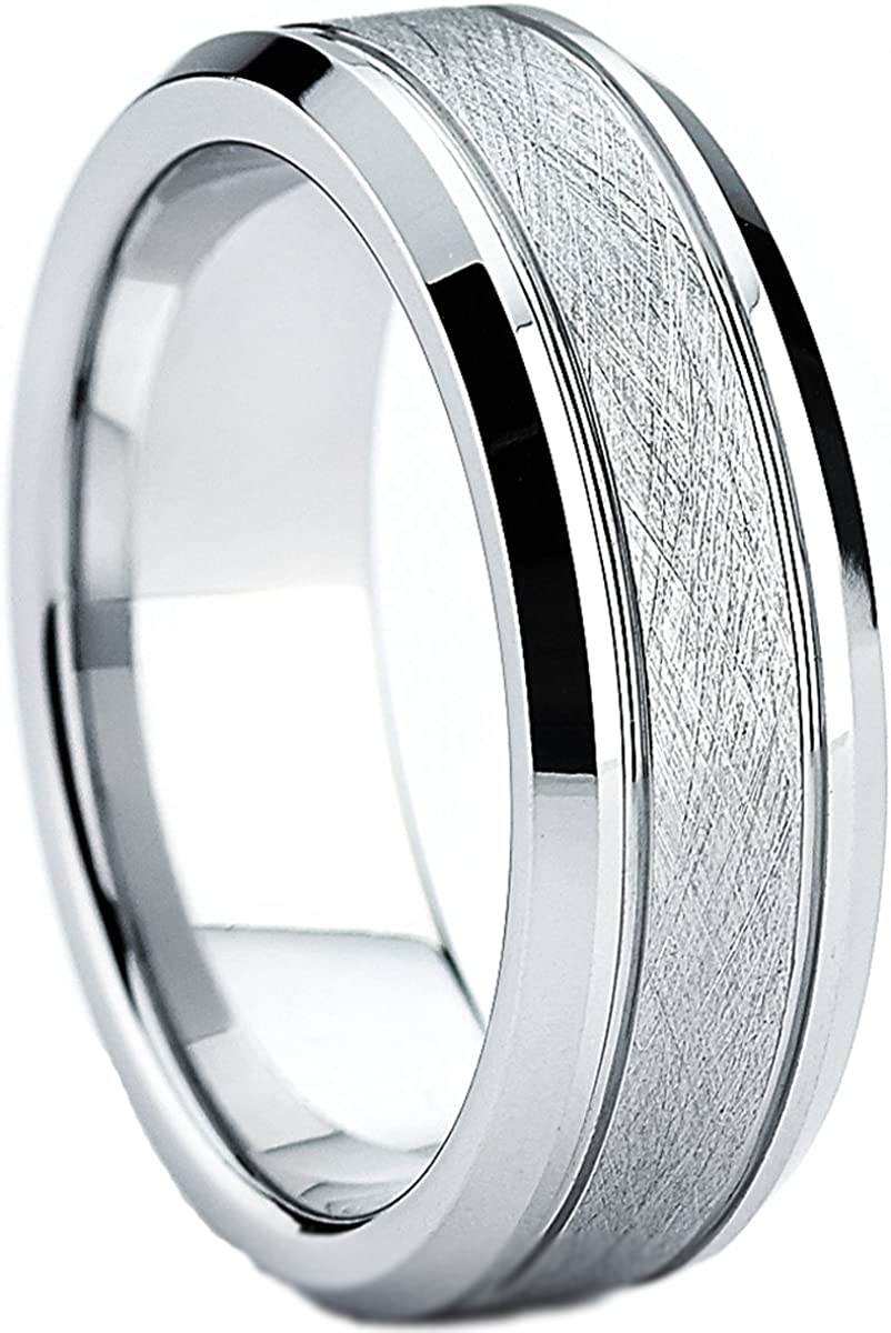 Ranking TOP20 Metal Masters Co. Cobalt Men's online shop Ring Fit Brushed Wedding Comfort