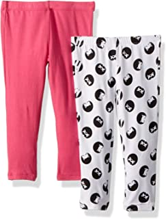 Flapdoodles 2 Pack Girls Printed and Solid Legging