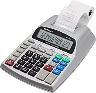 Commercial Printing Calculator with 12 Digit LCD Display Screen, 2.03 Lines/sec, Two Color Printing, AC Adapter Included (...
