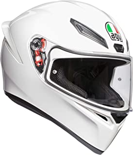 AGV Casco integral para motocicleta Agv K-1 blanco K-1, Blanco, Mediano/pequeño