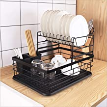 Dish Drying Rack Over Sink Plate Organizer Utensil Holder Large Capacity Bowl Storage Stand for Kitchen Countertop Antibac...