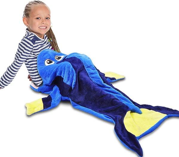Catalonia Blue Tang Fish Dory Blanket For Kids Hooded Snuggle Tail Blanket Super Soft Plush Sleeping Bags For Toddler Children Teens Boys Girls Gift Idea