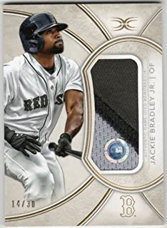 Jackie Bradley Jr. 2018 Topps Definitive Jumbo 3 Color Jersey Patch Relic Serial #14/30 Boston Red Sox