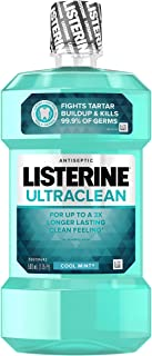 Listerine Ultraclean Oral Care Antiseptic Mouthwash with Everfresh Technology to Help..