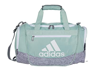 adidas Defender III Small Duffel (Two-Tone White/Onix/Haze Coral) Duffel Bags