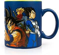 Dragon Ball Super Saiyans Vs. Goku Black & Zamasu | Official Dragon Ball Super Ceramic Coffee Mug | Holds 16 Ounces