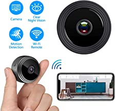Mini Spy Camera WiFi Wireless Hidden Camera, HD 1080P Home Security Nanny Cam with Night Vision Motion Detection Alert , Small IP Camera Recording Indoor Outdoor