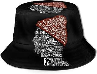 Nidey Summer-The-Life-Aquatic-with-Steve-Zissou-Bill-Murray Unisex Fisherman's Hat Bucket Hat Hip Hop Basin Caps Beach Sun Hats Black