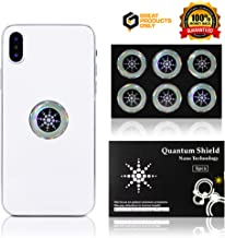 EMF Protection Cell Phone Shield Sticker Silver (6pc), Radiation Protection for - Cell Phone/Laptop/Computer/Tablet/WiFi/Router/iPad - EMF Radiation Protection for The Whole Family