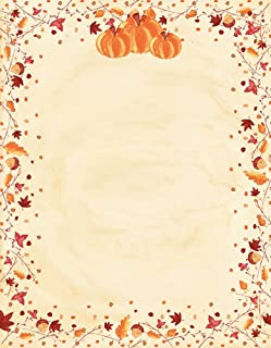 Great Papers! Painted Pumpkin Letterhead, 80 count, 11